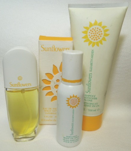 3 Elizabeth Arden Sunflowers EDT Spray Shampoo/Condition Perfume Oil Spray