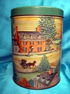 Rare Lithograph Tin Baywood Farms Candy Co Norfolk VA