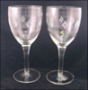 Standard Glass Water Goblets Line 3350s Cut #1 1930s (2)