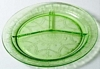 Hocking Green Cameo Depression Glass Grill Plate 1930s
