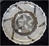 Crystal Holiday Holly Frosted Condiment Serving Platter