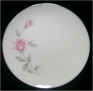 Noritake China Rosemarie Pink Rose Salad Plate 6044