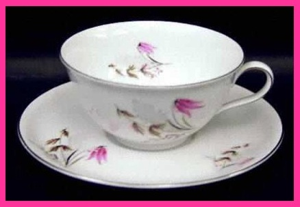 Bavaria Germany Cup and Saucer Royal Duchess Mountain Bell Pattern