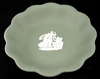 Wedgwood Sage Green Jasperware (jasper ware) Scalloped Bowl