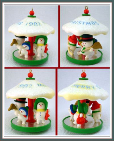 Carousel / Carrousel - 5th - Snowman - Hallmark Ornament 1982
