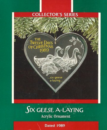 Twelve Days of Christmas - 6th - Six Geese A Laying - 1989