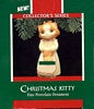 Christmas Kitty - 1st - Kitten in White Dress - 1989