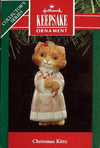 Christmas Kitty - 3rd & Final - Kitten in Nightgown - 1991