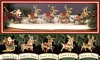 Santa and His Reindeer Collection - 5 PCS Set - Reach Ornaments - 1992