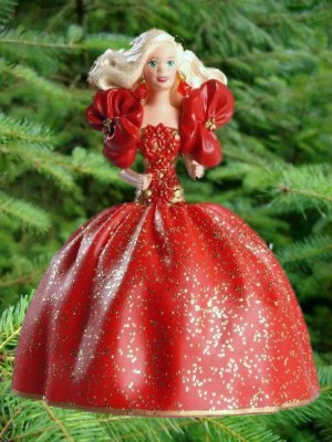 Holiday Barbie - 1st - Red Evening Gown - 1993