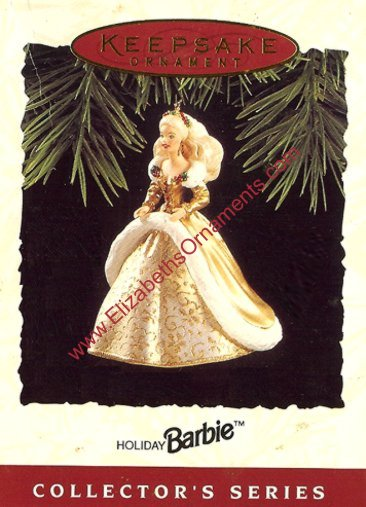 Holiday Barbie - 2nd - Gold / Ivory Gown - 1994
