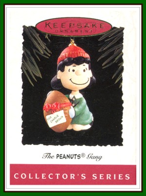 The Peanuts Gang - 2nd - Lucy  Football with Red Ribbon - 1994