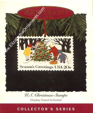 U.S. Christmas Stamps - 2nd - 1982 Snow Scene from Snow, OK - 1994