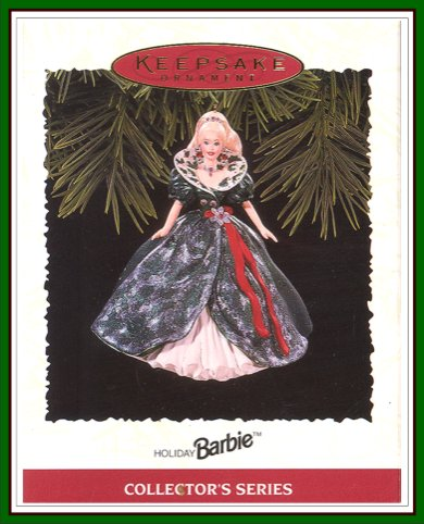 Holiday Barbie - 3rd - Green & White Dress - 1995