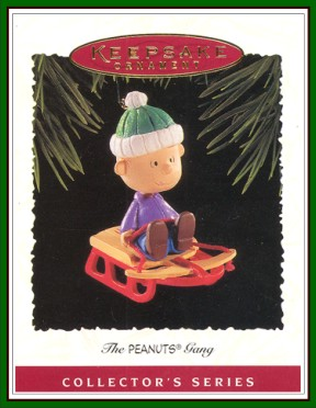 The Peanuts Gang - 3rd - Linus on Sled - 1995