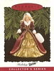 Holiday Barbie - 4th - Gold gown with Red Fur-Trimmed Overcoat - 1996