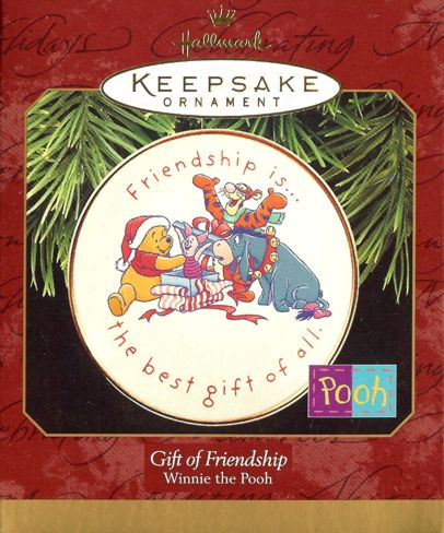 Gift of Friendship - Winnie the Pooh Plate - Disney - 1997