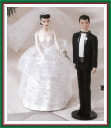 Barbie and Ken Wedding Day - 2 Hallmark Ornament - 1997