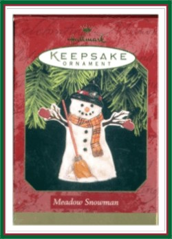 Meadow Snowman - Pressed Tin - 1997