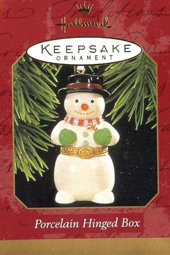 Porcelain Hinged Box - Snowman - 1997