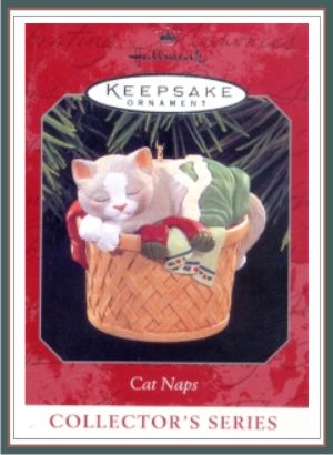 Cat Naps - 5th and Final in series - Grey and White Kitty - 1998