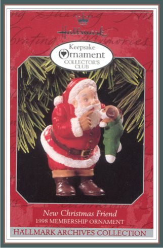 New Christmas Friend - 1998 Club Ornaments -1998