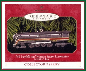 Lionel Trains - 4th - Norfolk & Western Locomotive -1999