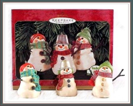 The Snowmen of Mitford - Set of 3 ornaments - 1999