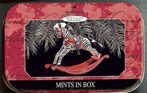 Advertising Tin Hallmark - Zebra - Mints in Box - Premiere - 1999