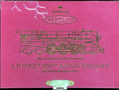 Front of Box holding Lionel 700E Hudson