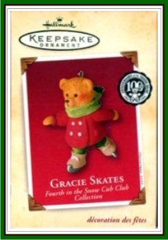 Snow Cub Club - 4th - Gracie Skates - Reach Ornament - 2002