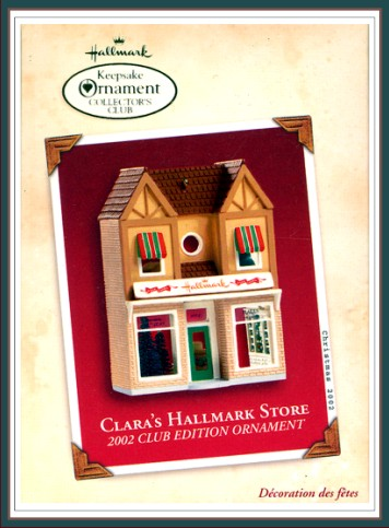 Nostalgic Houses and Shops Clara's Hallmark Store - Club - 2002