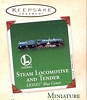 Lionel Blue Comet Steam Locomotive and Tender Set of 2 Miniatures 2003