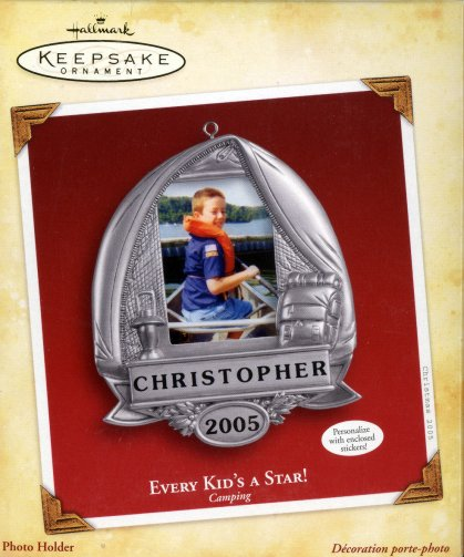 Every Kid's a Star! Camping Personalize Photo Holder Ornament - 2005