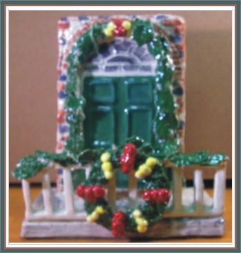 Christmas Card / Napkin Holder - Norton Gale House Williamsburg VA