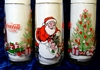 3 McCrory Stores Santa Clause Coco Cola Drinking Glasses
