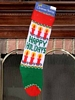 Knit Christmas Stocking - Happy Holidays - Vintage
