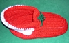 Crocheted Christmas  Shoe Centerpiece / Card Holder