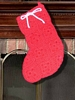 Crocheted Christmas Stocking - Granny Squares - Vintage