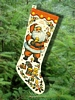 Vintage Parchment Christmas Stocking Made in Japan
