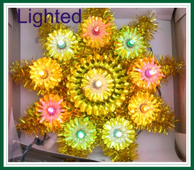 Retro Lighted Tree Topper / Window Decoration