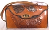 Prison Made Hand-Tooled Leather Shoulder Purse