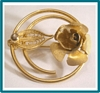 Sarah Coventry Promise Line GT Filigree Rose Brooch / Pin, 1967