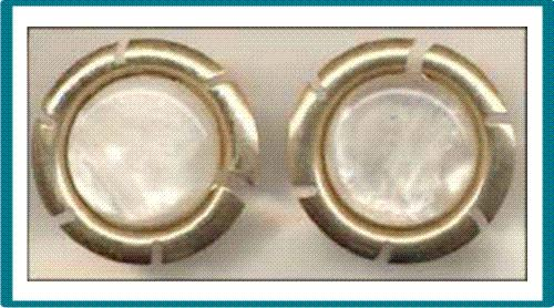 Vintage Sarah Coventry Gold Tone Color Frame Earrings