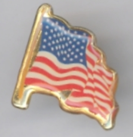 American Flag Enamel Hat Lapel Pin