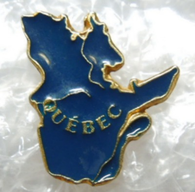 Province of Quebec Canada Enameled Hat Lapel Pin