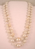 Vintage AB Austrian Crystals and Faux Pearl Necklace - Japan