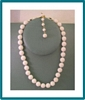 Vintage Made in Japan Knotted White Bead Necklace 1950s