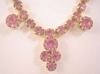 Vintage Ice Pink Crystal Rhinestone Necklace