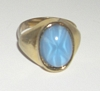 Costume Jewelry Faux Blue Star Cabochon Ring
